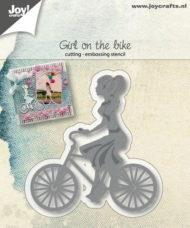 "JOY CUT/EMB ""Girl on the bike"""