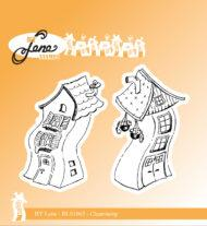 "BY LENE STEMPEL ""Crooked Houses-1"""