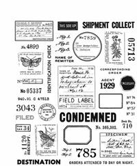 "Tim Holtz  Cling Stamp ""Field Notes"""