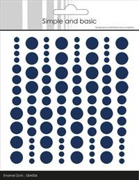 "Simple and Basic Enamel Dots ""Dark Blue "" SBA006"