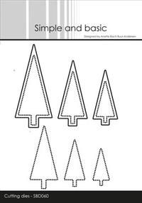 "600560 Simple and Basic die ""Christmas Trees"" SBD060"